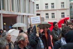 Demonstranten auf dem roten Platz. (Bild: Ralph Ribi)