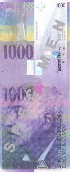 Die 1000er-Note schliesslich zeigt den Kultur- und Kunsthistoriker Jacob Burckhardt. (Bild: Archiv der SNB)