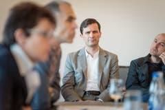 Der Zürcher Architekt Markus Schaefer an der Pressekonferenz im Hotel Heiden. (Bild: Michel Canonica)