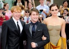 11. Juli 2011: Rupert Grint, Daniel Radcliffe und Emma Watson in New York. (Bild: Keystone)