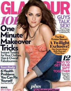 Fehlende Körperteile noch und nöcher: Kristen Stewart im November 2011 auf dem Glamour-Cover. (Bild: Glamour)