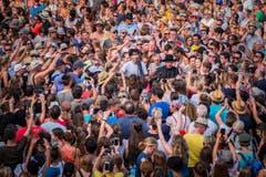 Arbon TG - Summerdays Festival 2017. Pegasus Frontmann Noah Veraguth @ Urs Bucher/Tagblatt (Bild: Urs Bucher)
