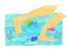 Murr-ma - Wagiman (Australien): Wenn man nur mit den Füssen etwas im Wasser sucht. (Bild: pd)