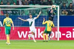Goran Karanovic beschwert sich nach einer vergebenen Chance. (Bild: Michel Canonica)