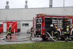Rund 100 Einsatzkräfte verschiedener Feuerwehren waren vor Ort. (Bild: Mario Testa)