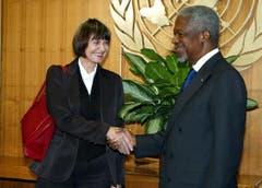 Mit Uno-Generalsekretär Kofi Annan. (Bild: Keystone)