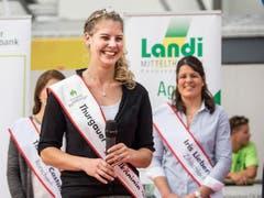 Apfelkönigin des Jahres 2016/2017: Angela Stocker. (Bild: Hanspeter Schhiess)