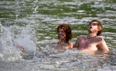 ...und das Wasser angenehm kühl. (Bild: Coralie Wenger)