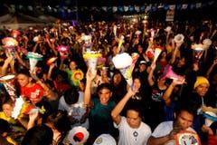 Ausgelassene Stimmung auf den Philippinen. (Bild: Keystone)