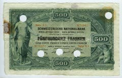 Die Noten zeigen auf der Vorderseite Helvetia. (Bild: Archiv der SNB)