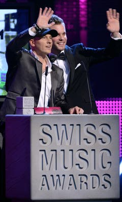 Remady & Manu-L gewinnen in der Kategorie Best Album Dance National. (Bild: Keystone)