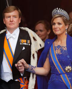 König Willem-Alexander und Königin Maxima. (Bild: Keystone)