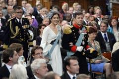 Prinz Frederik von Dänemark mit seiner Frau Mary. (Bild: Keystone)