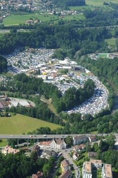 Voll besetztes OpenAir-Gelände. (Bild: Hanspeter Schiess)