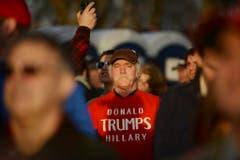 Ein Trump Anhänger vor der Vereidigung. (Bild: Keystone)