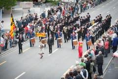 Die Stadtmusik Altstätten. (Bild: Benjamin Manser)