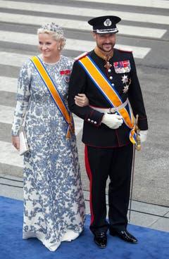 Norwegens Kronprinz Haakon und seine Ehefrau Mette-Marit. (Bild: Keystone)
