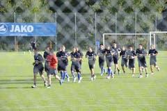 Zaungäste sehen derzeit Weltklasse-Fussballer beim Training auf der Spiserwis. (Bild: Hanspeter Schiess)