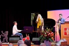 Die Maturanden-Band Wannabe Jazz sorgt für musikalische Unterhaltung an der Feier. (Bild: Martina Basista)