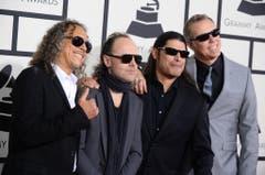 """Bei den Kollegen von Metallica freut man sich auf einen Abfallkübel, ein Sofa sowie einen """"Love Seat"""" in der Garderobe. Ausserdem wollen die vier Musiker zu jedem Essen ganz viel Speck. (Bild: Keystone)"""