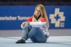Im November 2015 war Giulia Steingruber am Swiss Cup verletzungshalber nur Zuschauerin. (Bild: URS FLUEELER (KEYSTONE))