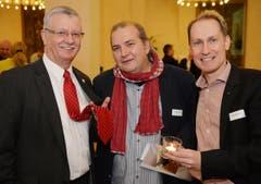 Hatten Spass: Bernhard Koch, Thomas Götz und Dieter Bachmann. (Bild: Reto Martin)