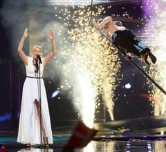 Eine Show mit Feuer und Spezialeffekten gehört beim Eurovision Song Contest einfach dazu. (Bild: Keystone)