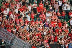 Fans von Spartak in Aktion. (Bild: Urs Bucher)