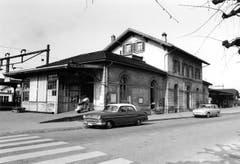 Der Bahnhof von der Nordseite aus fotografiert um 1965. (Bild: Archiv Martin Sax)