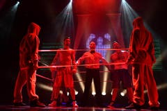 Die Pentorama-Bühne wird zum Boxring. (Bild: Manuel Nagel)
