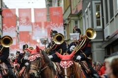 Die berittene Artilleriemusik aus Solothurn. (Bild: Ralph Ribi)