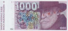Der Psychiater, Neurologe und Entomologe Auguste Forel ist auf der 1000er-Note verewigt... (Bild: Archiv der SNB)