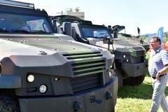 Zahlreiche Besucher kamen ans Panzertreffen nach Bürglen. (Bild: Mario Testa)