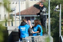 Die Polizei machte keine Angaben zu allfälligen politischen Hintergründen. (Bild: Keystone)