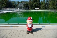 Das war's: Die Badesaison ist vorbei - auch im St.Galler Schwimmbad Lerchenfeld. (Bild: Ralph Ribi)
