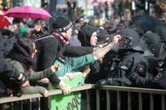 300 Protestierende wurden verhaftet. (Bild: Keystone)