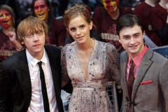 """7. Juli 2009: Rupert Grint, Emma Watson und Daniel Radcliffe an der Weltpremiere von """"Harry Potter and the Half Blood Prince"""" in London. (Bild: Keystone)"""