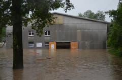 Und auch die Reithalle ist überflutet. (Bild: Philipp Haag)