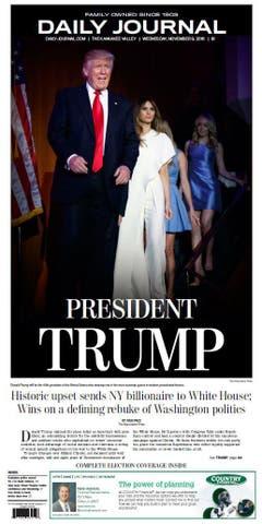 """Die amerikanische Zeitung """"Daily Journal"""". (Bild: Printscreen)"""