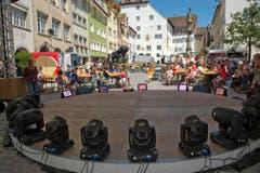 Historische Kulisse: Blick von der Bühne auf den Hof zu Wil. (Bild: Ralph Ribi)
