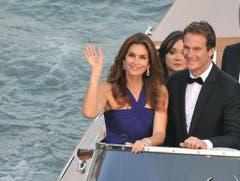 Cindy Crawford und ihr Mann in Venedig - Anlass im Herbst 2014 war die Hochzeit von Schauspieler George Clooney. (Bild: Keystone)