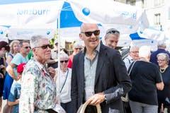 Bundesrat Alain Berset wurde wieder seinem Ruf als stilsicherster und bestaussehender Bundesrat gerecht: Als einziger war er konsequent mit Jacket unterwegs. (Bild: Keystone)