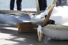 Der beschädigte Propeller. (Bild: Rudolf Hirtl)
