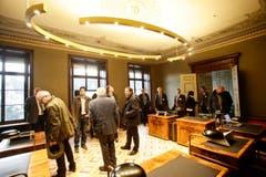 Sitzungszimmer der Regierungsräte. (Bild: Donato Caspari)