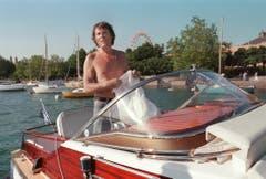 Vor 20 Jahren mit seinem Boot auf der Limmat. Seit 1977 lebte Udo Jürgens in Zürich. (Bild: Keystone)