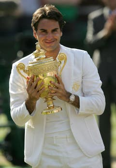 2007 Wimbledon gegen Rafael Nadal (ESP) 7:6, 4:6, 7:6, 2:6, 6:2 (Bild: Alastair Grant / Keystone)