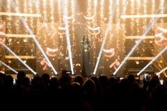 """Conchita Wurst präsentierte ihren Siegersong """"Rise Like A Phoenix"""". (Bild: Keystone)"""