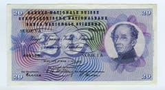 General Dufour ziert die Vorderseite der 20er-Note... (Bild: Archiv der SNB)