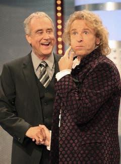 Showlegenden unter sich: Kurt Felix und Thomas Gottschalk. (Bild: Keystone)