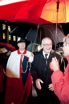 Hans Altherr wird in Trogen gefeiert. (Bild: Martina Basista)